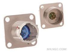 38999 Series I Hermetic Wall Mount Receptacle