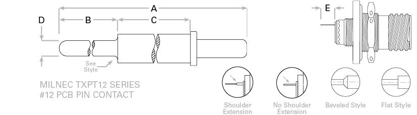 d38999-pcb-12-pin-contact