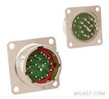 MIL 26482 Series 1 Crimp Hermetic Box Mount Receptacle