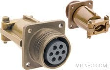 Mil-5015 Wall Receptacle